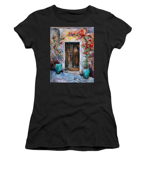Women's T-Shirt (Junior Cut) featuring the painting Welcome by Jennifer Beaudet
