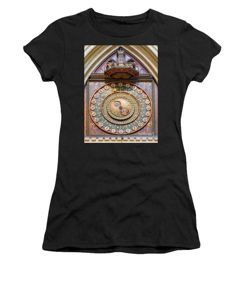 Wells Cathedral Clock Women's T-Shirt (Athletic Fit)