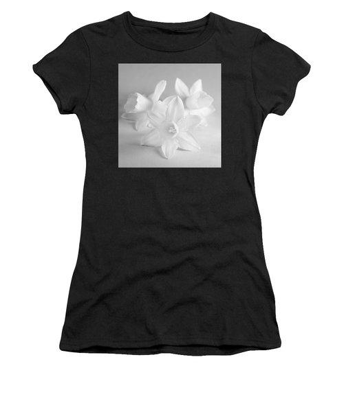 White Mini Narcissus 3 Women's T-Shirt