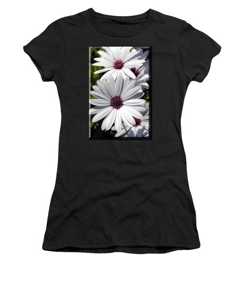 White Flower T-shirt Women's T-Shirt (Athletic Fit)