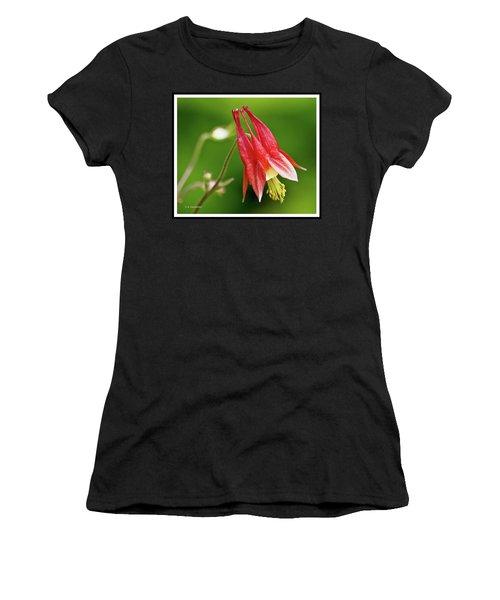 Wild Columbine Flower Women's T-Shirt (Athletic Fit)