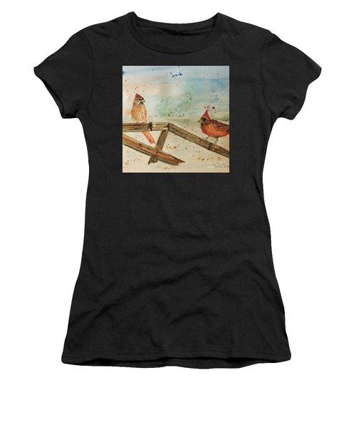 Winter Cardinals Women's T-Shirt