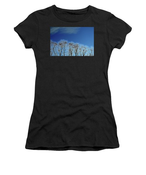 Winter Trees And Sky 3  Women's T-Shirt (Athletic Fit)