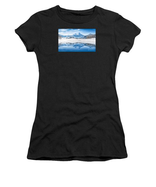 Winter Wonderland In The Alps Women's T-Shirt (Athletic Fit)
