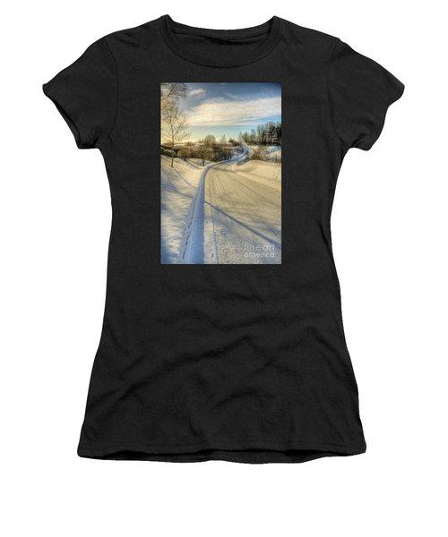Wintry Road Women's T-Shirt