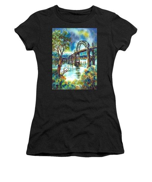 Yaquina Bay Bridge Women's T-Shirt (Athletic Fit)