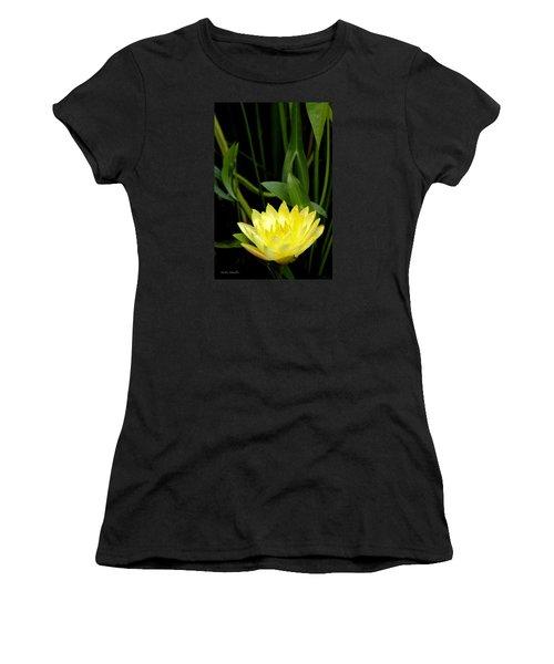 Yellow Lotus Women's T-Shirt (Athletic Fit)