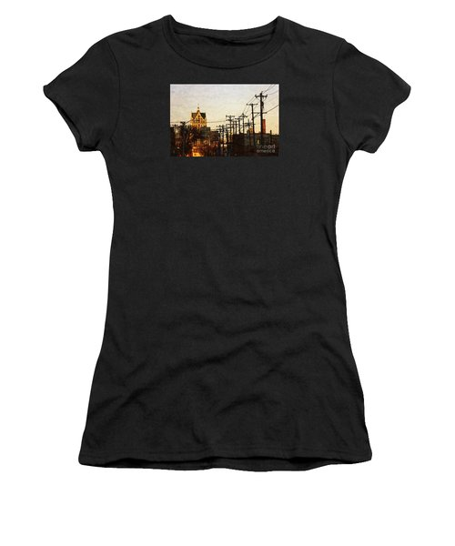 100 East Wisconsin Women's T-Shirt (Junior Cut) by David Blank