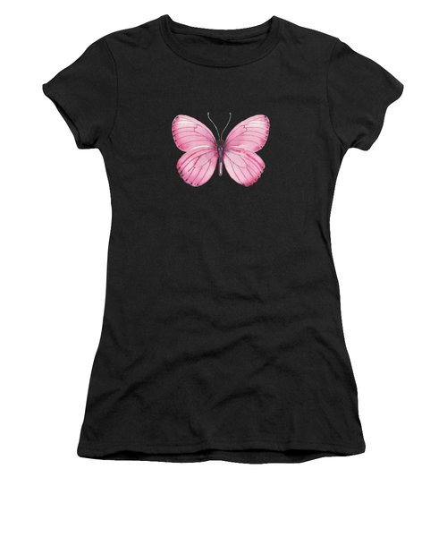 106 Pink Marcia Butterfly Women's T-Shirt (Athletic Fit)