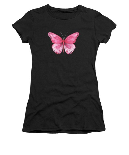 107 Pink Genus Butterfly Women's T-Shirt