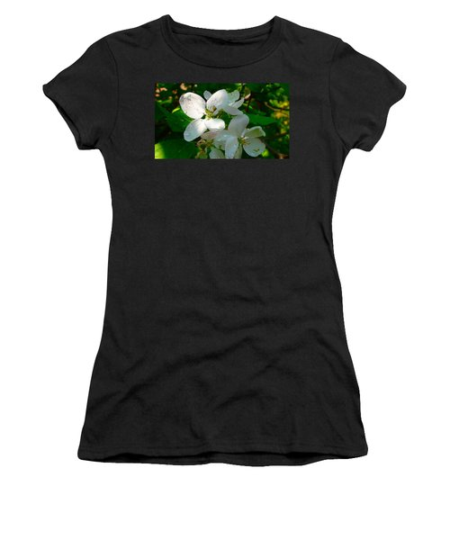 Women's T-Shirt (Junior Cut) featuring the painting Apple Blossoms by Johanna Bruwer