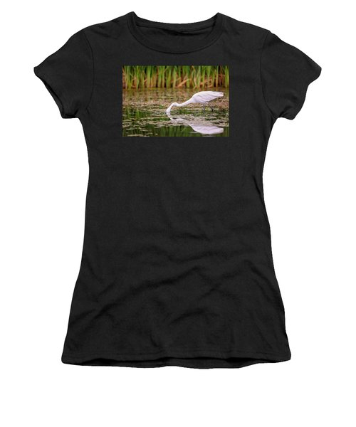 White, Great Egret Women's T-Shirt