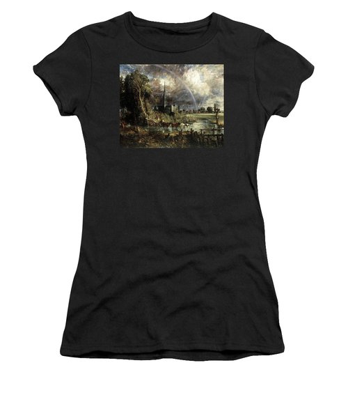 Salisbury Cathedral From The Meadows Women's T-Shirt