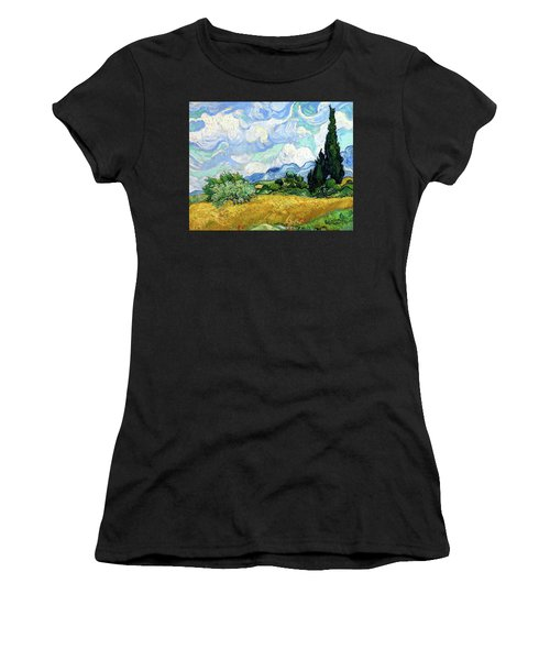 Wheat Field With Cypresses Women's T-Shirt (Athletic Fit)