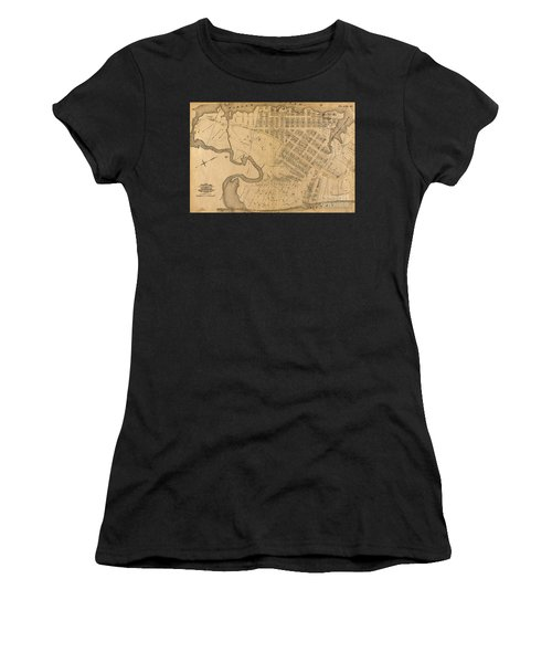 Women's T-Shirt (Athletic Fit) featuring the photograph 1885 Inwood Map  by Cole Thompson