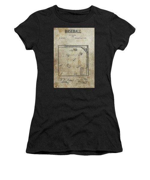 1887 Baseball Game Patent Women's T-Shirt