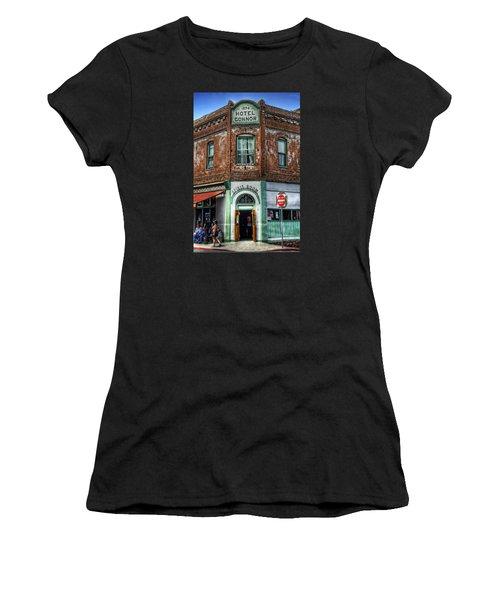 1898 Hotel Connor - Jerome Arizona Women's T-Shirt (Junior Cut) by Saija  Lehtonen