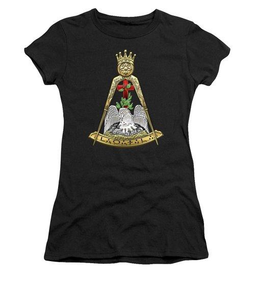 18th Degree Mason - Knight Rose Croix Masonic Jewel  Women's T-Shirt (Junior Cut) by Serge Averbukh
