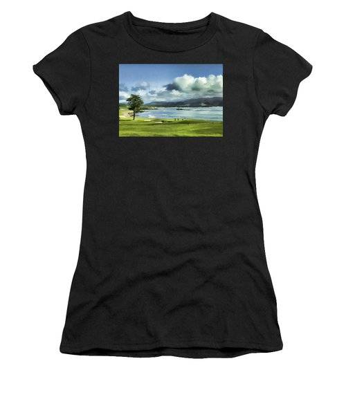 18th Hole Pebble Beach 2 Women's T-Shirt (Athletic Fit)
