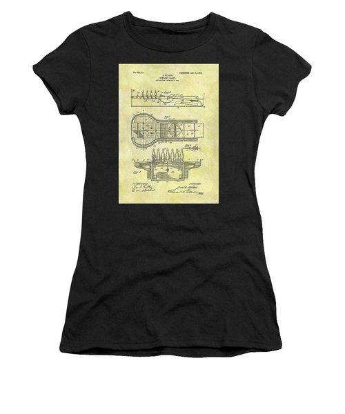 1906 Bowling Alley Patent Women's T-Shirt
