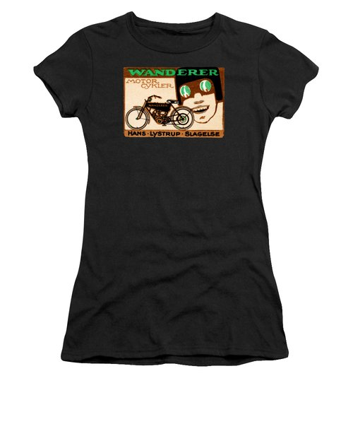 1910 Wanderer Motorcycle Women's T-Shirt (Junior Cut) by Historic Image