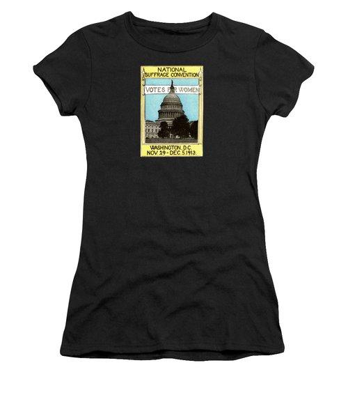 1913 Votes For Women Women's T-Shirt (Junior Cut) by Historic Image