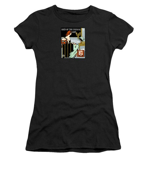 1920 Hats Of The Unusual Sort Women's T-Shirt (Junior Cut) by Historic Image