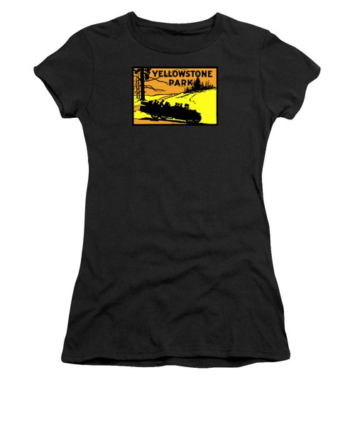 1920 Yellowstone Park Women's T-Shirt (Junior Cut) by Historic Image