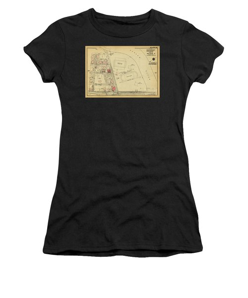 Women's T-Shirt (Athletic Fit) featuring the photograph 1927 Baker Field Map  by Cole Thompson