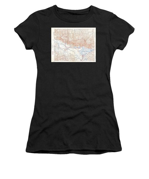 1929 Usgs Map Of Grand Teton National Park Wyoming  Women's T-Shirt (Athletic Fit)
