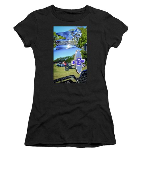 1930 Chevrolet Ad Hood Ornament Women's T-Shirt (Athletic Fit)
