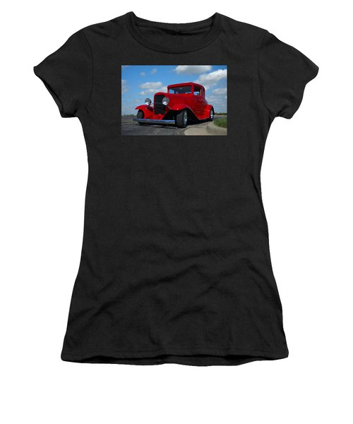 1930 Chevrolet Coupe Hot Rod Women's T-Shirt