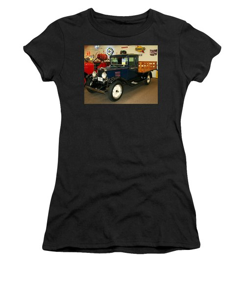 1930 Chevrolet Stake Bed Truck Women's T-Shirt (Athletic Fit)