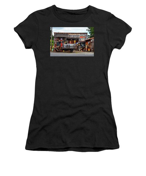 1930s Gas Station And Garage Women's T-Shirt (Athletic Fit)