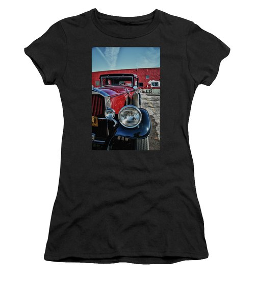 Women's T-Shirt (Junior Cut) featuring the photograph 1931 Pierce Arow 3473 by Guy Whiteley
