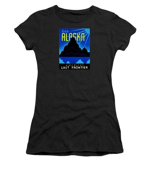 1935 See Alaska Poster Women's T-Shirt (Junior Cut) by Historic Image