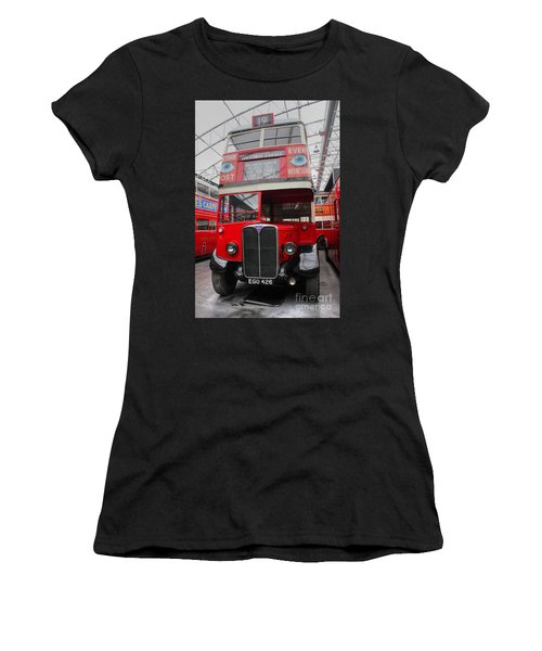 1937 Aec Regent I Bus Stl2377 Women's T-Shirt (Athletic Fit)