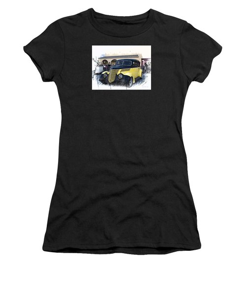 1937 Ford Deluxe Sedan_a2 Women's T-Shirt (Athletic Fit)