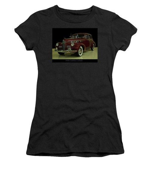Women's T-Shirt (Athletic Fit) featuring the photograph 1940 Cadillac Lasalle by Chris Flees