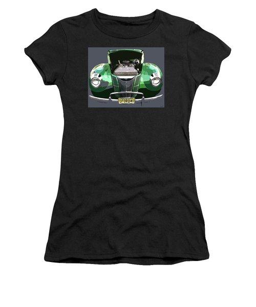 Women's T-Shirt (Junior Cut) featuring the photograph 1940 Ford by JoAnn Lense