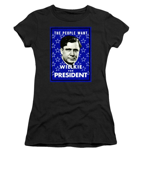 1940 Willkie For President Women's T-Shirt