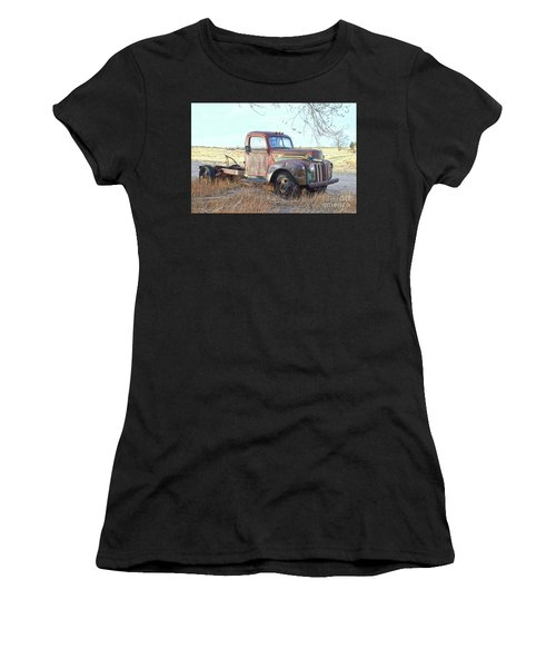 1940s Ford Farm Truck Women's T-Shirt (Athletic Fit)