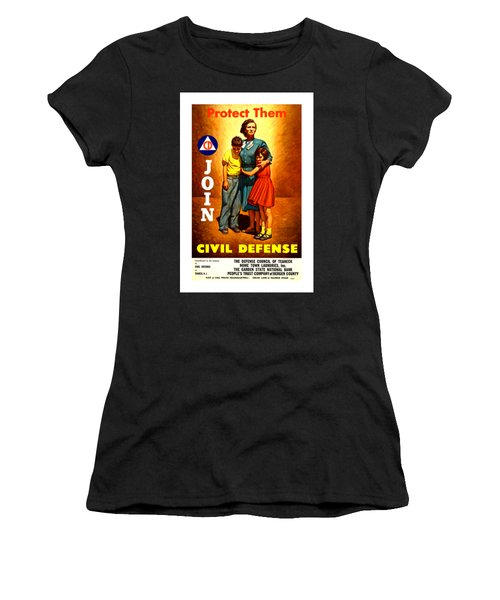 1942 Civil Defense Poster II Women's T-Shirt (Athletic Fit)