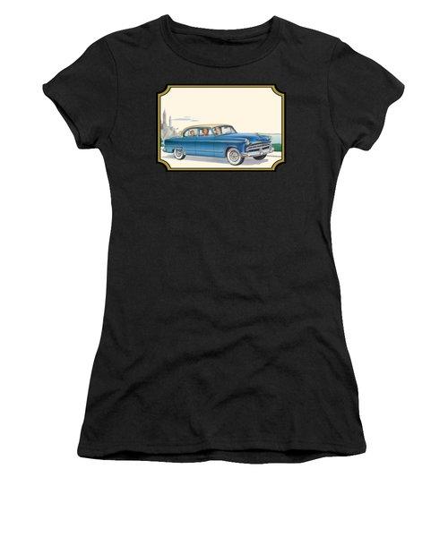 1953 Dodge Coronet Antique Car - Nostagic Americana - Vintage Tranportation Women's T-Shirt
