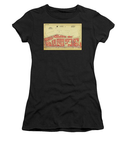 Women's T-Shirt (Athletic Fit) featuring the photograph 1956 Inwood Map  by Cole Thompson