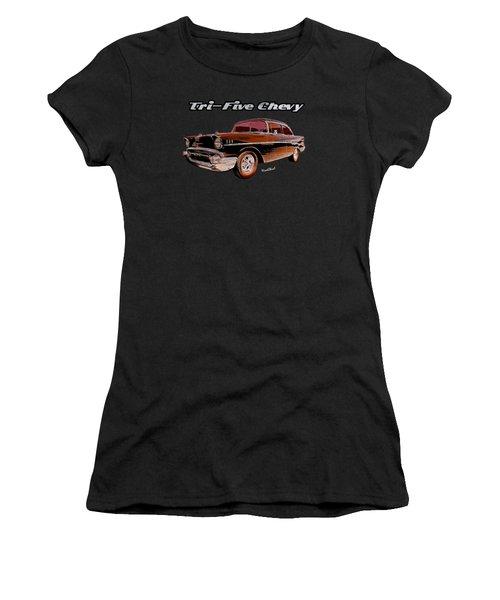 1957 Belair Two-door Sedan Women's T-Shirt (Athletic Fit)