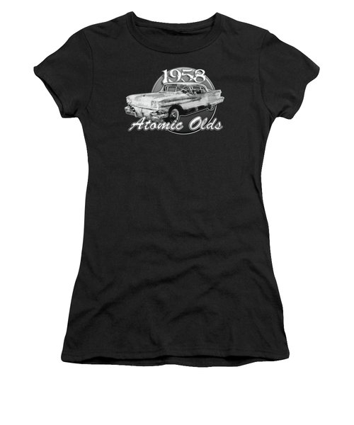 1958 Oldsmobile Hardtop With Continental Kit In Tow Women's T-Shirt