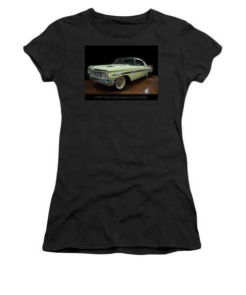 1959 Chevy Impala Convertible Women's T-Shirt