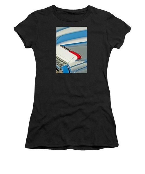 Women's T-Shirt featuring the photograph 1960 Cadillac Eldorado Biarritz Convertible Taillight by Jill Reger