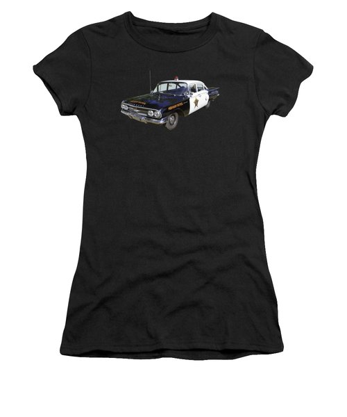 1960 Chevrolet Biscayne Police Car Women's T-Shirt (Athletic Fit)